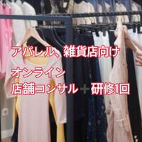 【アパレル、雑貨】既存店向けコンサルティング1回➕研修1回