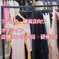 【アパレル、雑貨】既存店舗向けオンラインコンサル1回➕研修2回