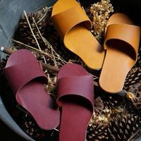 room shoes イタリアンレザー使用《Mサイズ》イエローキャメル