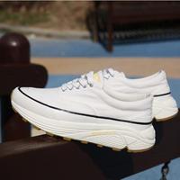 Vibramソールヴィンテージキャンバススニーカー(ホワイト)