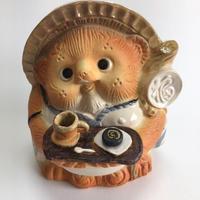 信楽焼 オリジナルコーヒーカップ&ケーキ持ち狸
