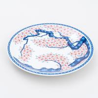 色鍋島桜樹文尺一寸皿