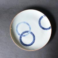 ダミ搔き落とし重輪文7寸皿 010