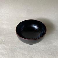 赤木明登/奥羽飯碗 黒小   a020