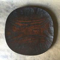 拭漆栗の皿 052