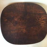 拭漆栗の皿 103