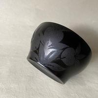 赤木明登/正法寺椀 小 蒔絵黒   a021