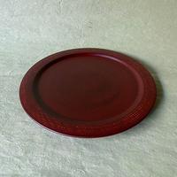 六寸環皿 赤  038