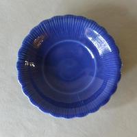 ルリ釉花形5寸鉢 032