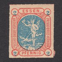 ドイツ(民間地方切手)Essen:1888年 Mi#25