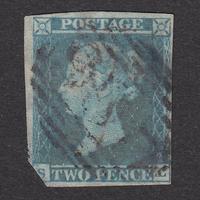 ペンスブルー(無目打):1841年 ES10d(SG#13/15aa) PL3 SL