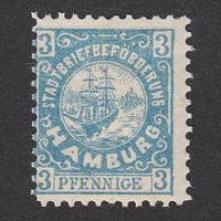ドイツ(民間地方切手)Hamburg:1888年 Mi#38