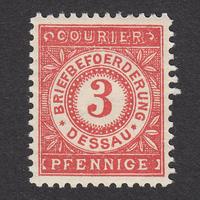 ドイツ(民間地方切手)Dessau:1897年 Mi#8