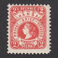 ドイツ(民間地方切手)Hansa:1886年 Mi#1A