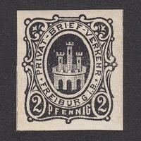 ドイツ(民間地方切手)Freiburg:1886年 Mi#2D