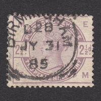 イギリス(QV):1884年 K20(SG#190) EM