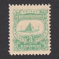 ドイツ(民間地方切手)Karlsruhe:1887年 Mi#4