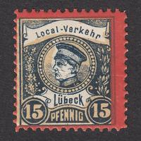 ドイツ(民間地方切手)Lübeck:1888年 Mi#9
