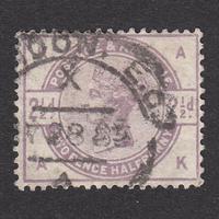 イギリス(QV):1884年 K20(SG#190) AK