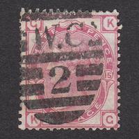 イギリス(QV):1873年 J39(SG#143/144) PL15 KG