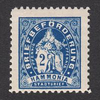ドイツ(民間地方切手)Braunschweig:1886年 Mi#II B