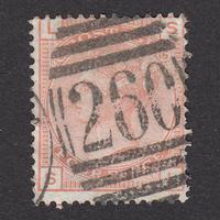 イギリス(QV):1876年 J62(SG#152) PL15 SL