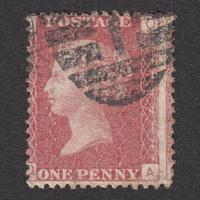 ペニーレッド(プレート):1864年 G1(SG#43/44) PL137 QA
