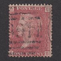 ペニーレッド(プレート):1864年 G1(SG#43/44) PL160 EB