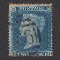 ペンスブルー(スター):1855年 F5(SG#27) PL5 LH