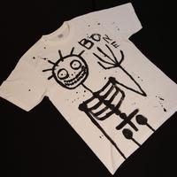 手描きティシャツ  BONE