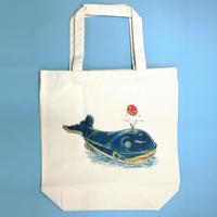 まいごのりんご トートバッグ(クジラ)