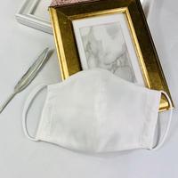 エアリー パステル プレミアムシルクコットンボイル  3Dマスク  オプティカルリボン  ホワイト