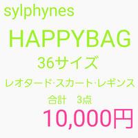 【Sylphynes】シルフィーヌ ハッピーバッグ レオタード·スカート·レギンス サイズ36