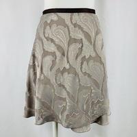 ロマンチックバックテイルラップスカート カットジャガード リリー ベージュ