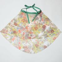 バックテイルラップスカート オレンジブーケ
