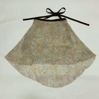 バックテイルラップスカート ブラウンペイズリー