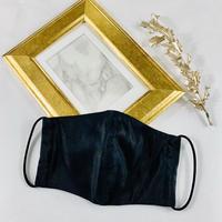 エアリー パステル プレミアムシルクコットンボイル  3Dマスク  オプティカルリボン  ブラック