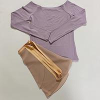 【Sylphynes】シルフィーヌ    セレクション 数量限定セット④-B ラウンドネック長袖Tシャツ+ラップスカート