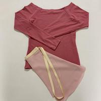 【Sylphynes】シルフィーヌ    セレクション 数量限定セット④-E ラウンドネック長袖Tシャツ+ラップスカート