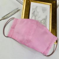 エアリー パステル プレミアムシルクコットンボイル  3Dマスク  オプティカルリボン  ピンク