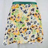 ラップスカート ウォーターフラワー オレンジ