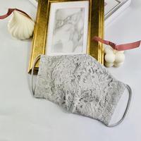 プレミアム シルク 3Dマスク コードレース パールグレー