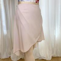 【ラップスカート 】プレミアムロングバックテイル38cm丈 ピンクベージュ<20113>