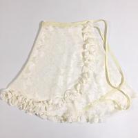 ハーフフリルラップスカート  カットシフォンカーネーション柄 ホワイト
