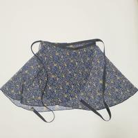ラップスカート リトルフラワー ブルー