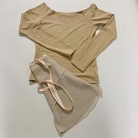 【Sylphynes】シルフィーヌ    セレクション 数量限定セット④-A ラウンドネック長袖Tシャツ+ラップスカート
