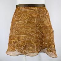 ラップスカート クリンクル ブラウン