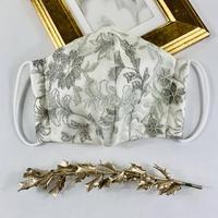 プレミアムシルク  3Dマスク シャルマンレース シルバー