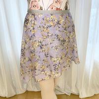 【sylphynes】フラワーベル ラップスカート 38cm丈 ラベンダー<20121>