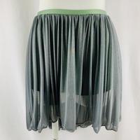 タップパンツ付きスカート グレーカーキ